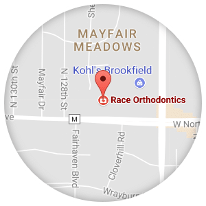 Race map Race Orthodontics in Brookfield Mukwonago WI